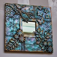 Group 2 - The… Diy And Crafts, Arts And Crafts, Paper Crafts, Picture Frame Decor, Mixed Media Techniques, Mirror Mosaic, Frame Crafts, Deco Table, Polymer Clay Art
