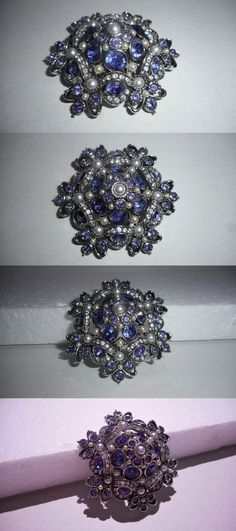 Pins and Brooches 50677: Gorgeous Joan Rivers Swarovski Crystal And Pearl Domed Brooch / Pin BUY IT NOW ONLY: $50.0