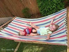 20 DIY Backyard Ideas On a Small Budget diy-hammock-stand Hammock Frame, Diy Hammock, Hammock Stand, Hammock Ideas, Hammocks, Homemade Hammock, Backyard Hammock, Big Backyard, Outdoor Hammock