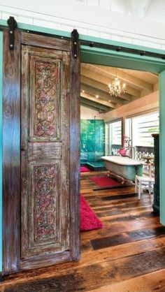 Love the colors and the door