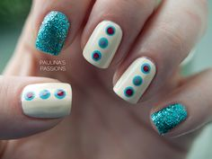 Simple polka dots nails with a kick of glitter :)