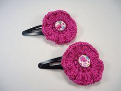 Crochet hair clip clip for baby girls child hair by NikitasStore