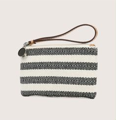 Reverse Stripe Mini Pouch - We can think of about a million things to stash in this black and white striped pouch. 6 length x height. Fashion Images, Purses And Bags, Coin Purses, Small Bags, Outfit, Leather Bag, Shoe Boots, Shoes, Fashion Accessories