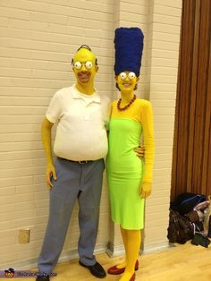 Homer and Marge Simpson Homemade Couple's Costume