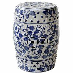 "Porcelain Garden Stool Blue White 13""x17.5"" FantasticDecor,http://www.amazon.com/dp/B005HLZXIQ/ref=cm_sw_r_pi_dp_9Mxmtb0YYKNWMHJP"