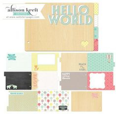 Coming Soon > Hello World Chipboard Book - Websters Pages: A Cherry On Top
