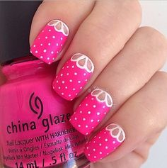 cute neon half moon spring nails bmodish