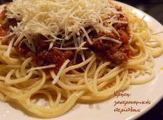 Μακαρόνια με κιμά - cretangastronomy.gr Spaghetti, Pasta, Ethnic Recipes, Food, Essen, Meals, Yemek, Noodle, Eten