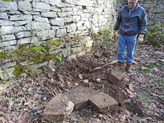 Original Millstone at the Mill Ruins, located at the Historic Thomas Amis House Circa 1782 Rogersville TN.