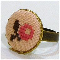 Apple cross stitch ring SO CUTE