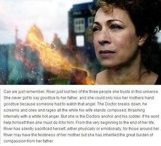 i really love her: River Song, Rory William's daughter. This is so perfect and perfectly explains how River dealt with losing her parents. She wasn't being cold or uncaring she was coping and being an anchor Geronimo, Dr Who, Space Man, Leelah, Rory Williams, Don't Blink, Torchwood, Geek Out, My Tumblr