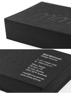 Love a black business card.  This site has some amazing cards...