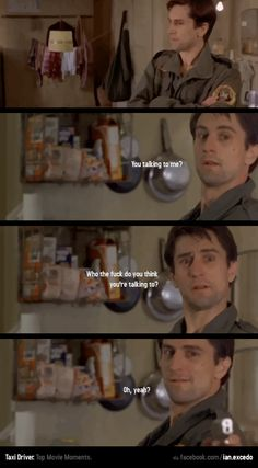 """You Talking To Me?"" - Movie: Taxi Driver."
