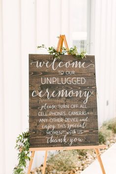 Unplugged Wedding Sign, Unplugged No Cell Phones Ceremony Sign, Rustic Wood Wedd. Unplugged Wedding Sign, Unplugged No Cell Phones Ceremony Sign, Rustic Wood Wedding Sign - Romantic Wedding Decor - Wedd. Romantic Wedding Receptions, Wedding Ceremony Signs, Rustic Wedding Signs, Romantic Weddings, Wedding Themes, Wedding Tips, Unique Weddings, Diy Wedding, Wedding Events