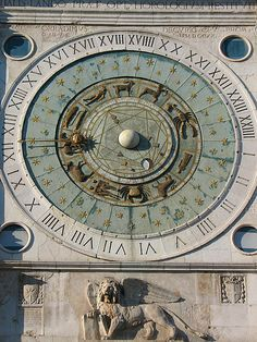 Zodiac Clock in Padua by madmara, via Flickr
