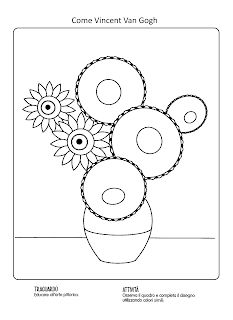 La maestra Linda: Arte: I girasoli di Van Gogh Spring Art, Summer Art, 2nd Grade Art, Jazz Art, Doodle Coloring, Smart Art, Artists For Kids, Drawing Projects, Art Lesson Plans