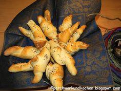 Patchwork und Kochen: Wunderbare Salzstangerl für Frühaufsteher
