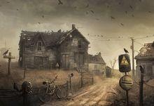 radioactive artwork apocalyptic stalker birds 1920x1200 wallpaper Art HD Wallpaper