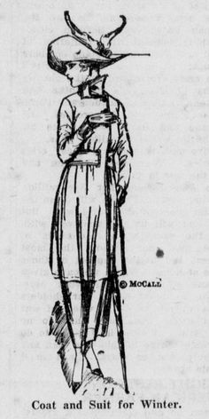 Winter suit and coat. From the October 4, 1918 Leavenworth Echo.