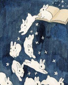 Art And Illustration, Illustrations, Rabbit Illustration, Illustration Animals, Kunst Inspo, Art Inspo, Stickers Kawaii, Arte Indie, Bunny Art