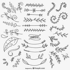 Desenhos ornamentais florais