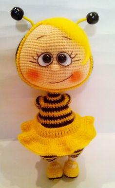 Bonnie in un vestito api di Havva Unlu - MY VYAZALKI - Gallery - fan amigurumi forum (giocattoli a maglia)