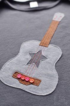"""Аппликация """"Гитара"""" / Аппликации / Своими руками - выкройки, переделка одежды, декор интерьера своими руками - от ВТОРАЯ УЛИЦА"""