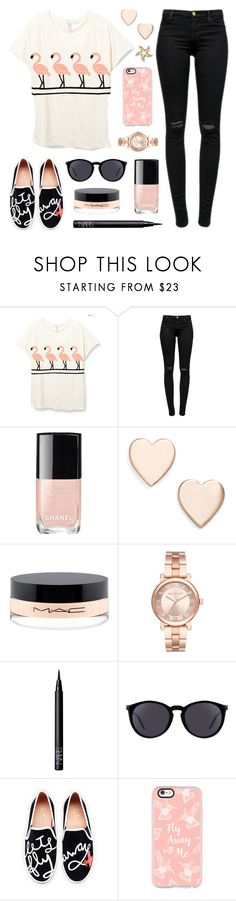 """Let's Fly Away"" by lgb321 ❤ liked on Polyvore featuring J Brand, Chanel, Poppy Finch, MAC Cosmetics, Michael Kors, NARS Cosmetics, Yves Saint Laurent, Kate Spade, Casetify and Talia Naomi"