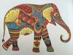 animal kingdom colouring book elephant - Google Search