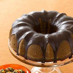 Halloween desserts: Chocolate-Glazed Pumpkin Cake recipe
