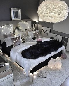 """8 Teen Bedroom Theme Ideas That's So Great! - Hoomble,Teens have unique ideas of what they consider as """"cool bedrooms."""" Teen bedroom themes reflect things such as their personalities, aspirations, and ide. Gray Bedroom, Modern Bedroom, Black Bedroom Decor, Bedroom Rustic, Master Bedrooms, Black White And Grey Bedroom, Cool Teen Bedrooms, Black Bedrooms, Bedroom Simple"""