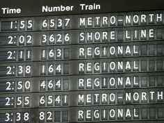train departure board - Template for menu board?