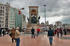 Taksim Square in Istanbul, Turkey is the cultural and spiritual heart of the city