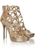 Blast glitter-finished patent-leather sandals