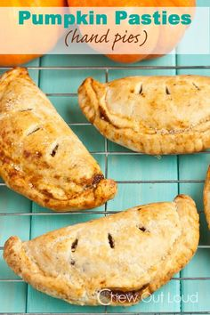 Pumpkin Pasties.... Buttery, flaky, crispy crust.  Take your pumpkin pie on the go this fall.