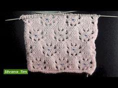 Flores caladas con perlitas. Tejido con dos agujas # 529 - YouTube