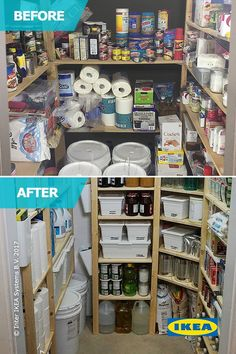 The #IKEAHomeTour Squad worked with Allison to increase the amount of space in her pantry using IKEA IVAR shelving! The new shelving added more organization to the overcrowded space, making everyday cooking and cleaning a little less stressful.
