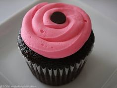 Chocolate Cupcakes with a White Chocolate Rasberry Cream Cheese Frosting…