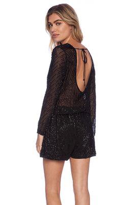 e2a05dd77522 Shop for Karina Grimaldi Catalina Beaded Romper in Black at REVOLVE.