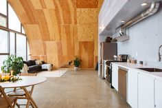 House Tour: A Modern, Minimal Quonset Hut Detroit Home Hut House, Dome House, Farm House, Tiny House, Quonset Hut Homes, Barn Homes, Arched Cabin, Detroit, Steel House