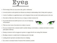 Eye Cues. These are great.     Ideas and inspiration for teaching GCSE English    www.gcse-english.com   