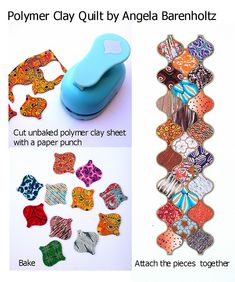 https://flic.kr/p/JHhra8 | Polymer clay quilt | polymer clay, paper punch