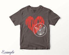 Diy t-shirt with this Digital Michigan Word Art, Michigan jpg, png, eps, svg, dxf, Michigan logo design, Michigan word in heart shape, Michigan wall decor #etsy #supplies #red #kidscrafts http://etsy.me/2zpEA5h