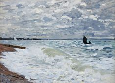 The Sea at Saint-Adresse by @claude_monet #impressionism