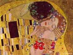 "Gustav Klimt ""The Kiss"""