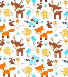 Woodland Nursery Fabric Animals