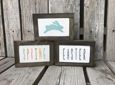 Ready to ship Easter spring hand painted wood sign by jodyaleavitt
