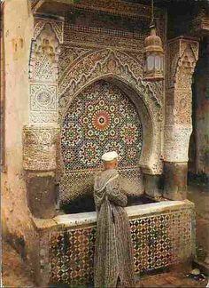 Fountain in Marrakech