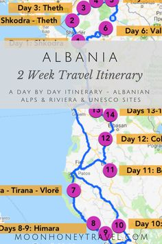 Planning a trip to Albania? Use this 2 week Albania itinerary to find out where to go, what to skip and how to plan a successful road trip. Albania Beach, Albania Travel, Visit Albania, Lisalla Montenegro, Travel Guides, Travel Tips, Road Trip, Beach Trip, Outdoor Travel