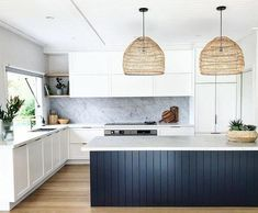 What better way to light up a bohemian kitchen than with an earthy pendant light made from natural materials such as bamboo, rattan, and jute. Our favorite pendants just might be the perfect pick for your boho kitchen. Classic Kitchen, New Kitchen, Kitchen White, Kitchen Ideas, Awesome Kitchen, Minimal Kitchen, Kitchen Gifts, Kitchen Paint, Kitchen Hacks